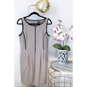 Apt 9 Tan & Black Sheath Dress